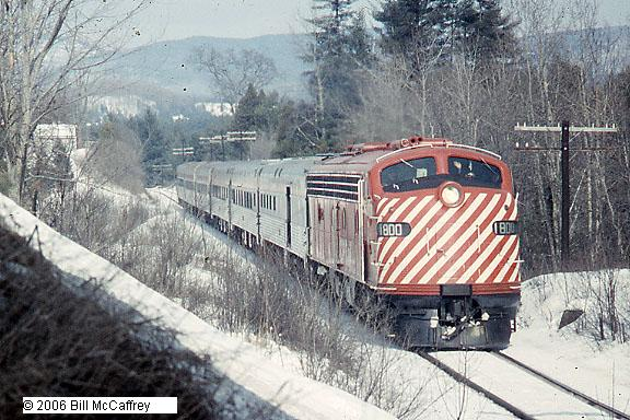CP Engine 1800 with 6 car train Vermont 1974