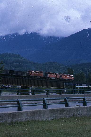 CP Coal Train on bridge