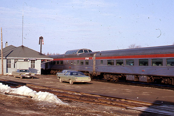 Vanceboro, Maine - The Atlantic Limited with dome car.