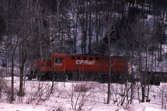 CP Engine 1802 in 1992 - Location not certain, probably Vermont.