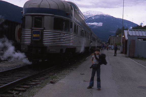 Observation Car of the Canadian at Revelstoke