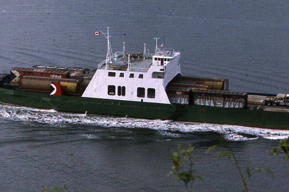 CP Car Ferry Underway in Vancouver Harbor