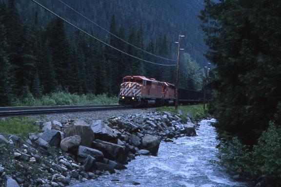 CP Coal Train along creek