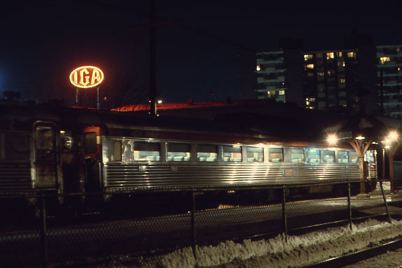 Montreal West Station - RDC at night.