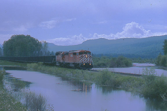 CP Coal Train with River and Creek