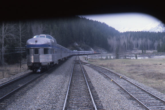 The Eastbound Canadian in the Rockies