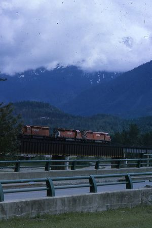 CP Coal Train on bridge 2