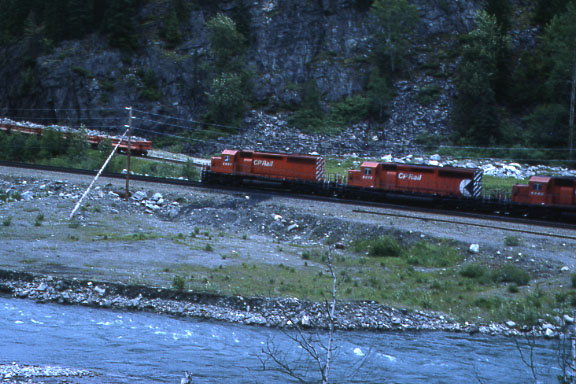CP along river siding in background