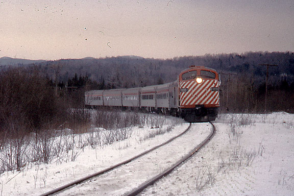 3/23/1974 - Canadian Pacific Railfan trip from Montreal to Wells River, Vermont