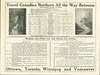 Canadian Northern Railway timetable Spring Service 1917. Toronto to Vancouver service.