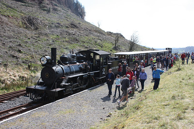 The new end of the line at the extended Brecon Mountain Railway 18/4/14