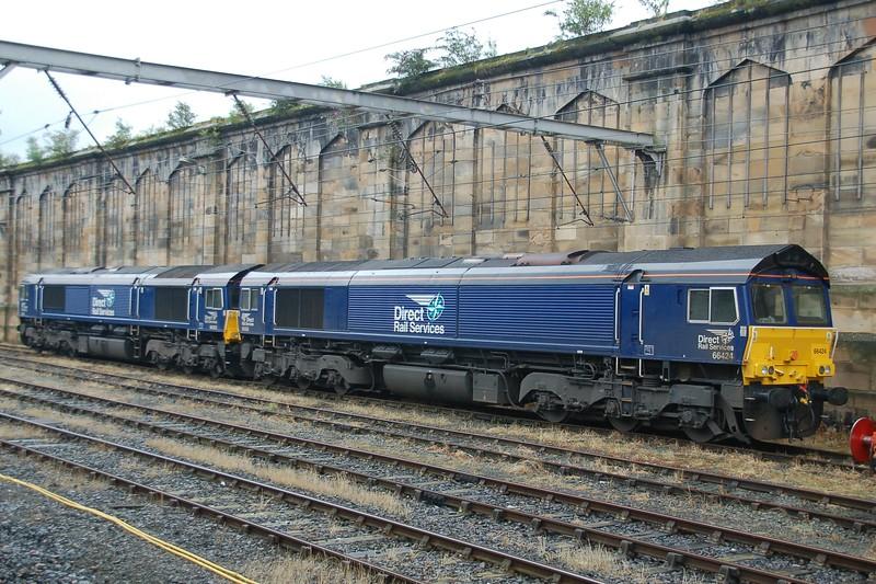 66303 & 66424 - Carlisle - 22 July 2017