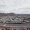 Panoramic view of The Las Vegas Motor Speedway during the 2011 NASCAR Kobalt Tools 400 race.