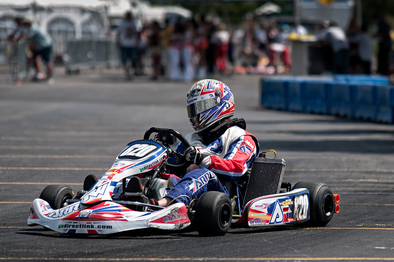 """Pro Go Karts at the """"Racing the Rockies"""" event, held at the Denver Pepsi Center, August 8, 2010."""
