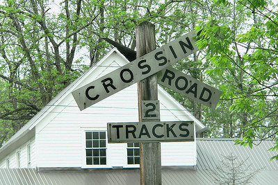 Old RR crossing sign at Clover Lick, WV.