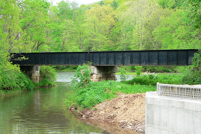 Old C&O bridge over Cloverlick Creek just North of the Clover Lick Station.