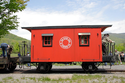 """Bobber"" (4 wheel) caboose lettered for Elk River Coal & Lumber Co."
