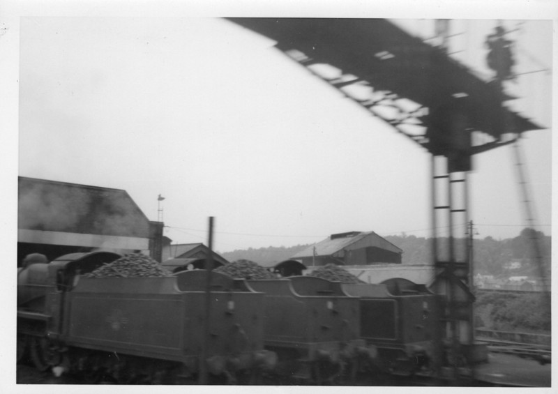 On a route bash during July 63 and Redhill shed, closed to steam in May 65, was seen from a passing train.