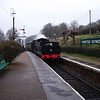 Unidentified steam arrival at Horstead Keynes on 13/03/11.