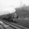 The mainly hourly services between Redhill, Guildford and Reading provided a wonderful choice of steam operated motive power. Here Guildford's N 31627 arrives at Betchworth on 19/12/64 with the 13 35 Redhill to Reading Southern - she being withdrawn 9 months later.