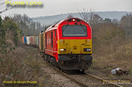 """67018 """"Keith Heller"""", Park Mill Crossing, Princes Risborough, 6A49, 12th March 2015"""