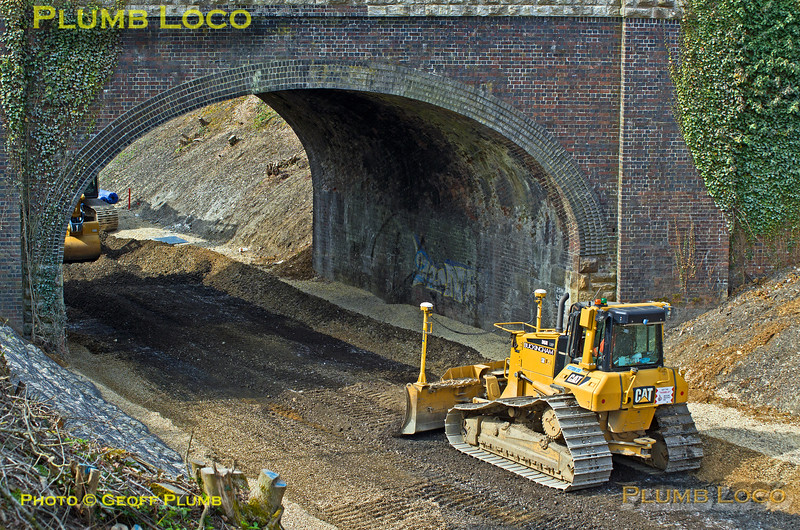 Islip Station, Building Works, 10th April 2015