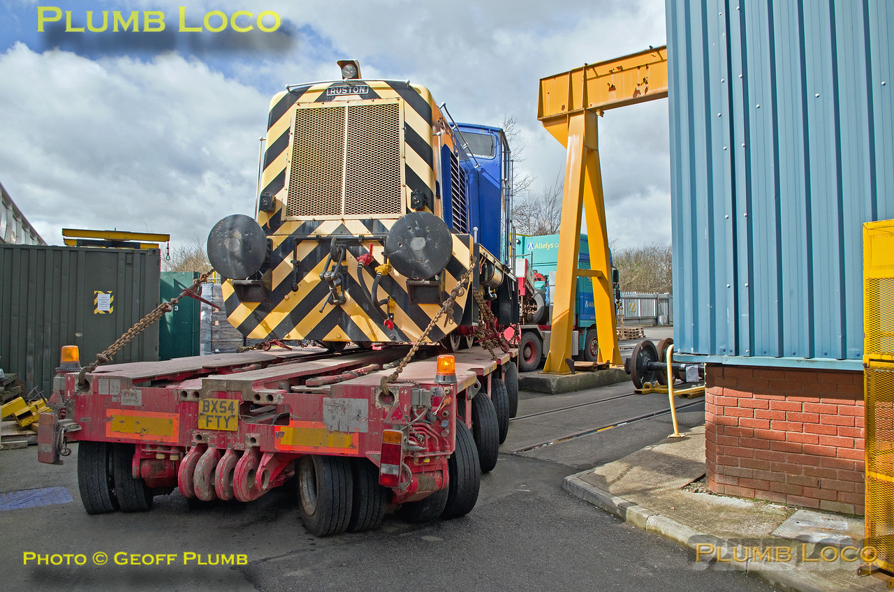 "Ruston ""Scaz"", Allely's Low-Loader, Aylesbury DMUD, 30th March 2016"