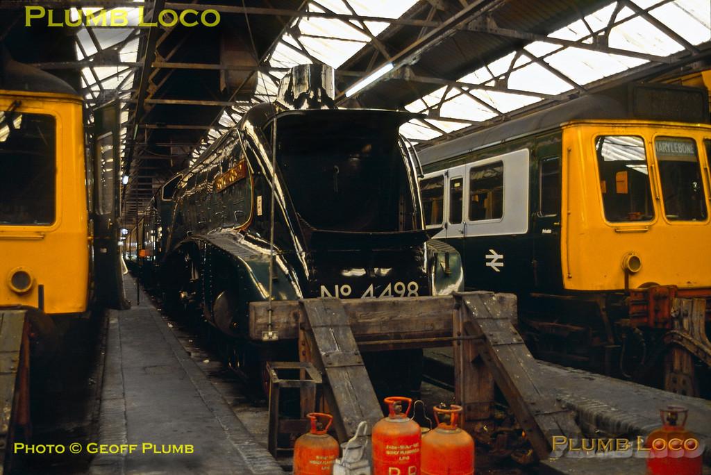 "4498 ""Sir Nigel Gresley"", Marylebone Depot, 3rd October 1986"
