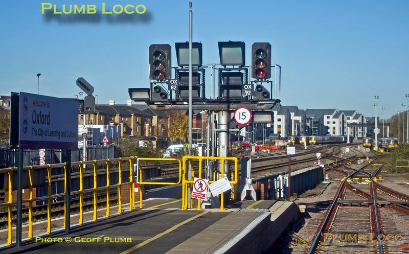 Oxford Platform 2, Signal OX92, 28th November 2016