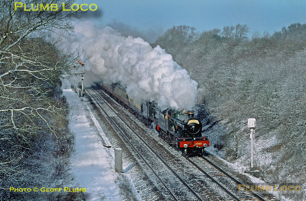 """4965 """"Rood Ashton Hall"""" & 4936 """"Kinlet Hall"""", Fenny Compton, 3rd March 2001"""