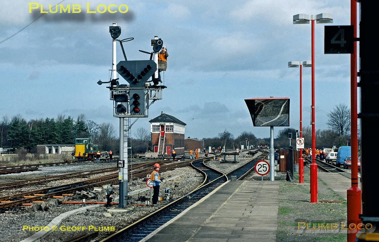 Signal Dismantling, Princes Risborough, 3rd March 1991