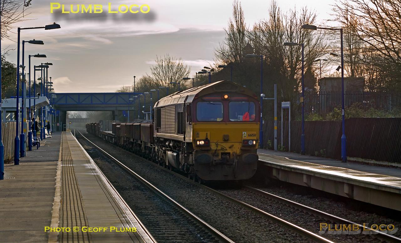 66158, Haddenham & Thame Parkway Station, 6A91, 28th December 2015