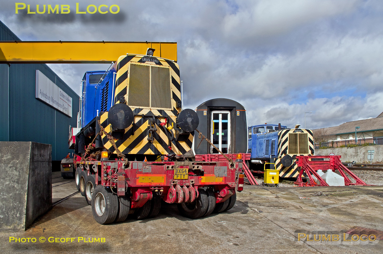 """Ruston """"Scaz"""", Allely's Low-Loader, Aylesbury DMUD, 30th March 2016"""