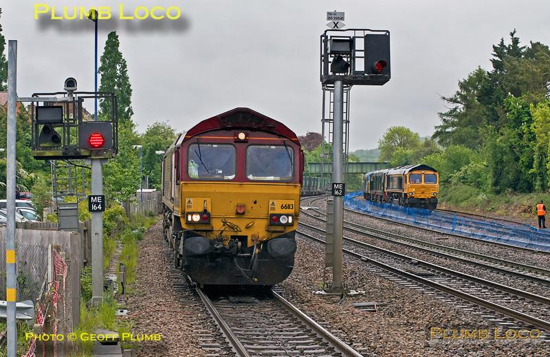 66113 & 66741, Princes Risborough, 15th May 2017