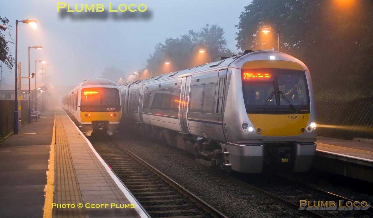 165 026 & 168 111, Haddenham Station, 19th September 2015