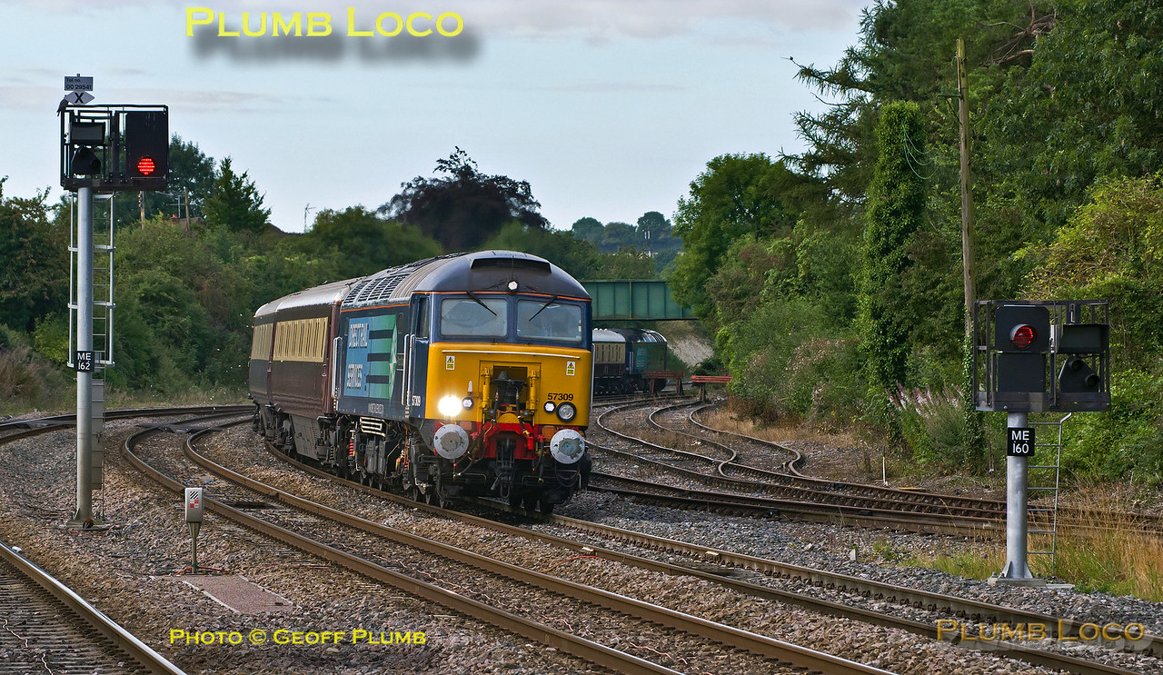 57309 & 57308, Princes Risborough, 1Z90, 16th August 2014