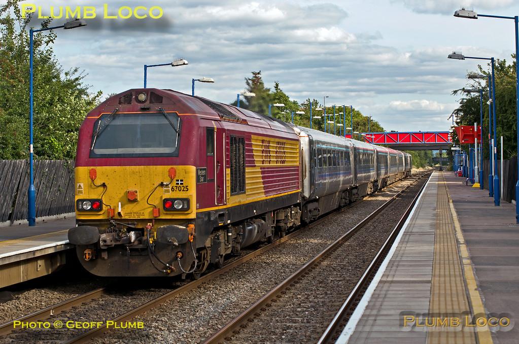 67025, Haddenham Station, 1H65, 19th August 2013