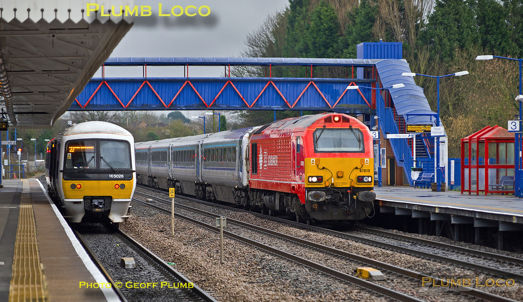 165 026 & 67018, Princes Risborough, 24th February 2014