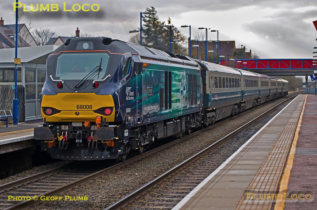 """68008 """"Avenger"""", Haddenham & Thame Parkway, 1H20, 19th February 2015"""