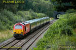 "67018 ""Keith Heller"" was back in action for Chiltern Railways from 13th July 2011, working 1R47, the 16:30 from Marylebone to Birmingham Moor Street with set AL03, one of the former WSMR sets. It is seen approaching Brill Tunnel at 17:18 on Wednesday 13th July 2011. Digital Image No. GMPI9721."