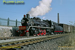 Most of the locos based on the Chengde steel branch were well kept and 2-8-2 SY1522 was no exception. The engine is leading a train into a siding at a rail-connected industrial facility off the branch line near Shuangtashan. 11:40, Monday 4th November 2002. Slide No. 30421.