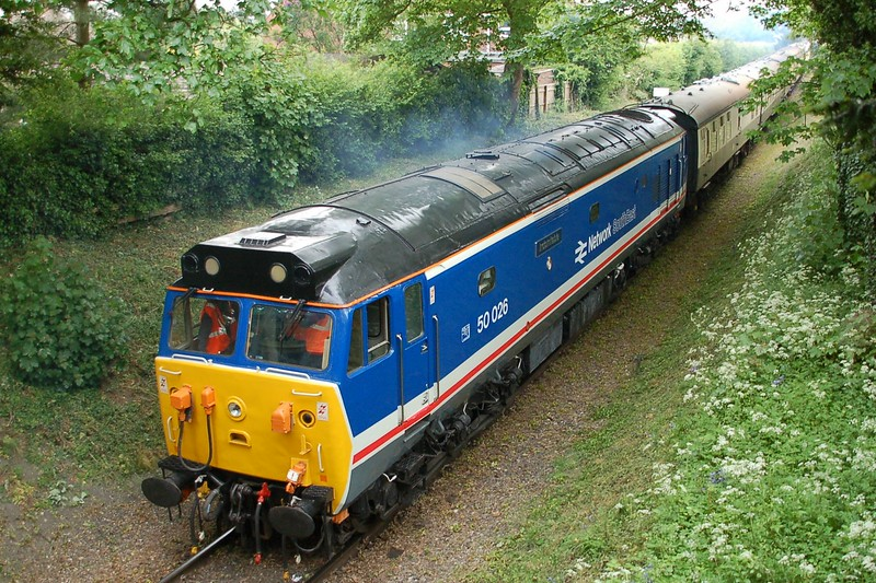 50026 Indomitable - Chinnor & Princes Risborough Railway - 11 May 2017