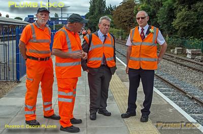C&PRR volunteers & Ian Prosser, Princes Risborough Platform 4, 15th August 2018