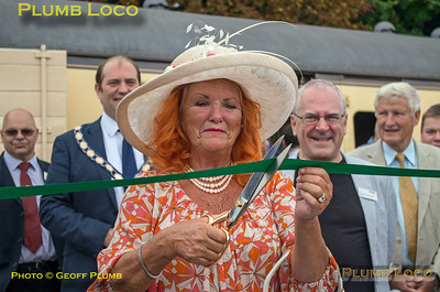 Lady McAlpine, Ribbon Cutting, Princes Risborough Platform 4, 15th August 2018