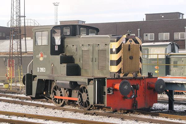 02003, carrying D2853, at the Tata Steelworks Scunthorpe.