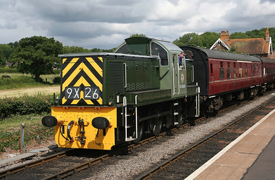 D9526 shunts at Bishops Lydeard, West Somerset Railway. 10/6/11