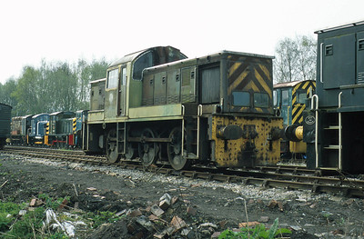 In amongst a fascinating collection of shunters at Rowsley on the Peak Railway in Derbyshire, D9502 carries its original green livery from BR days.