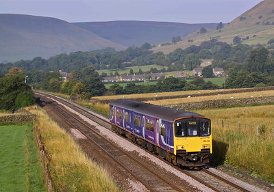 150134 passes Edale with the 07:44 Manchester Piccadilly - Sheffield 'Stopper' on 04/09/10.