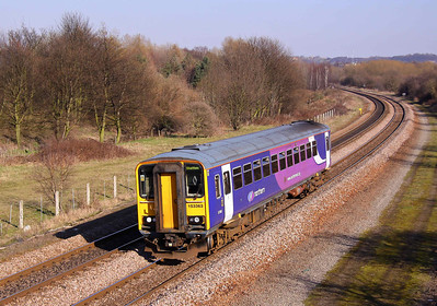 153363 heads for Sheffield at Old Denaby on 07/03/11.