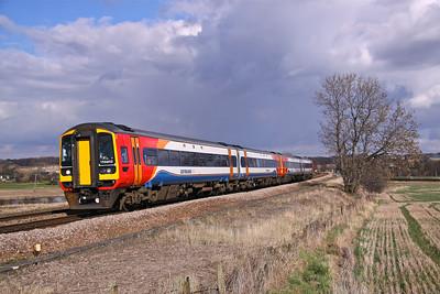 158852+158866 SLITTING MILL 1T09 10.52 Liverpool-Nottingham